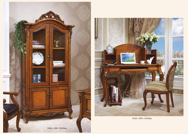Витрина для гостиной классика и письменный стол