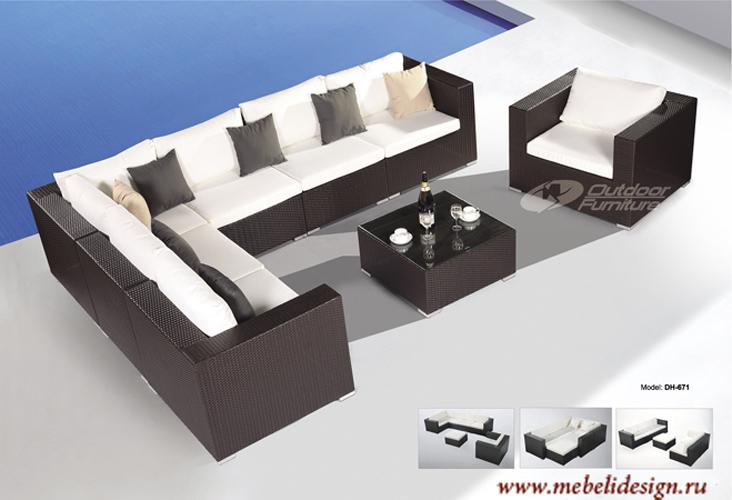 Мебель из искусственного ротанга DH-671